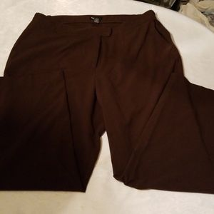 Maggie Barnes brown plus size pants size 4 average